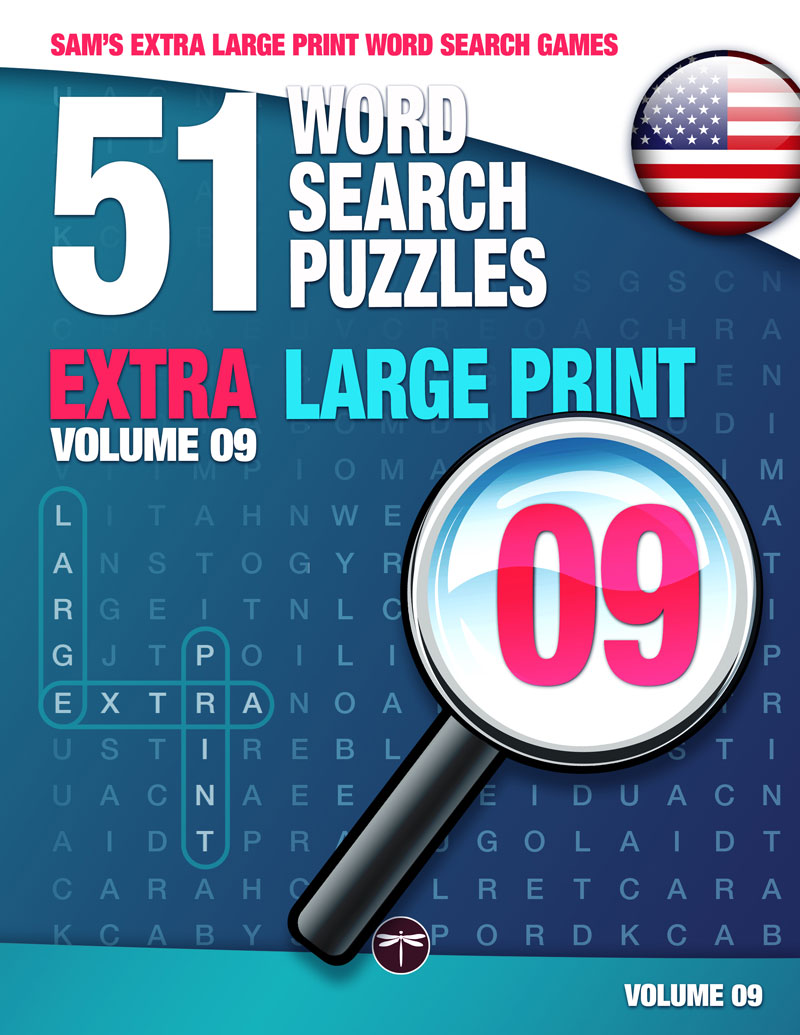 Sam's Extra Large Print word search books volume 9